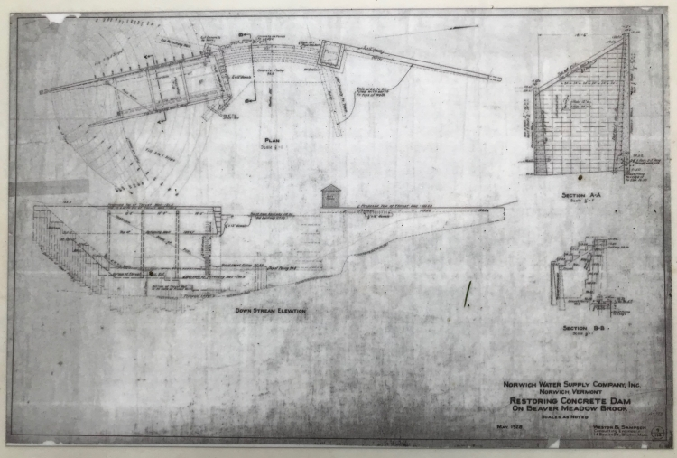 Original plan for the dam